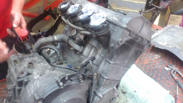 ZXR400 engine before